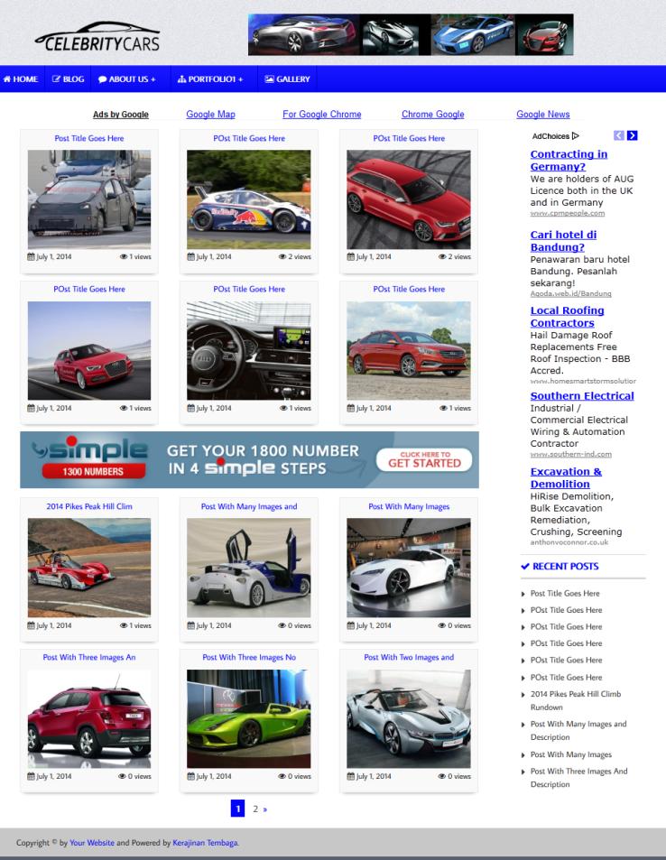 Premium Wallpaper WordPress Theme #4 – PLR Products